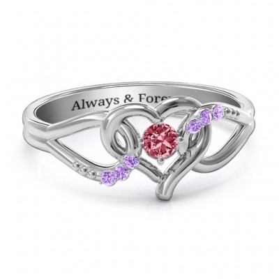 You Have My Heart Ring with Accents - Crafted By Birthstone Design™