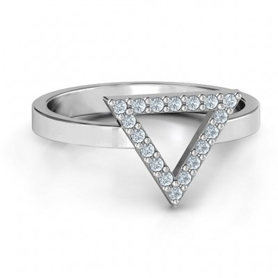 Your Best Triangle with Accents Ring - Crafted By Birthstone Design™