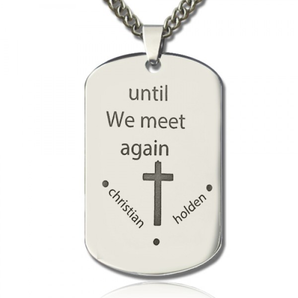 Remembrance Dog Tag Name Necklace - Crafted By Birthstone Design™