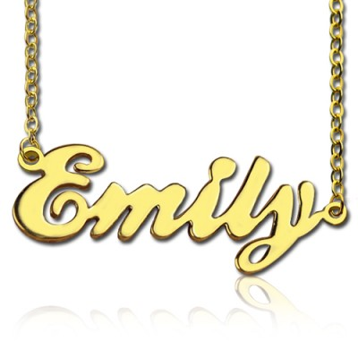 Cursive Script Name Necklace 18ct Solid Gold - Crafted By Birthstone Design™