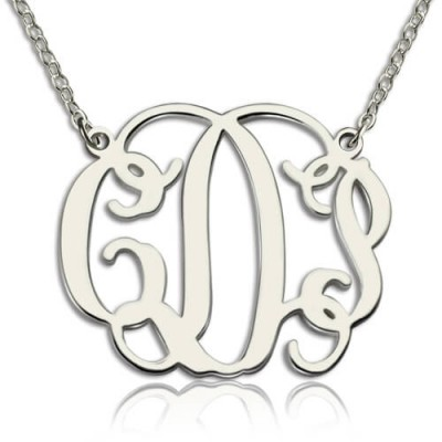 Personalised Taylor Swift Monogram Necklace Sterling Silver - Crafted By Birthstone Design™