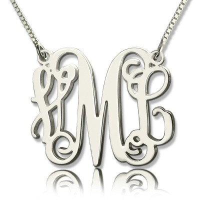 Personalised Monogram Initial Necklace Sterling Silver - Crafted By Birthstone Design™