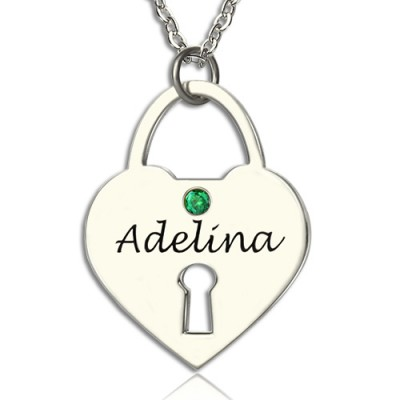 Personalised Heart Keepsake Pendant with Name Sterling Silver - Crafted By Birthstone Design™