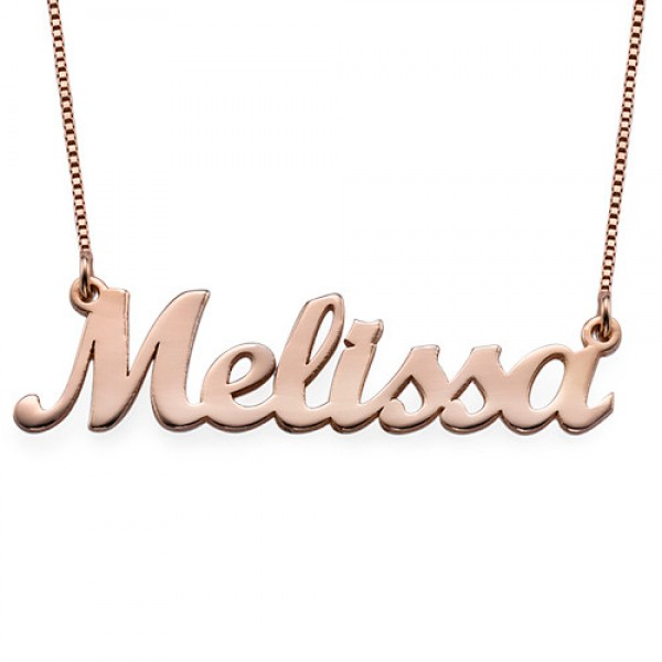 18ct Rose Gold Plated Script Name Necklace - Crafted By Birthstone Design™