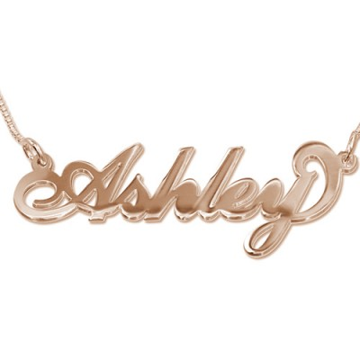 18ct Rose Gold Plated Silver Name Necklace - Crafted By Birthstone Design™