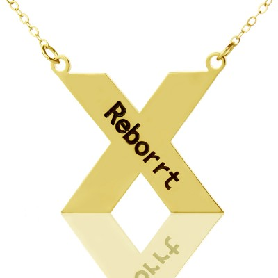 Personalised 18ct Gold Plated Silver St. Andrew Name Cross Necklace - Crafted By Birthstone Design™