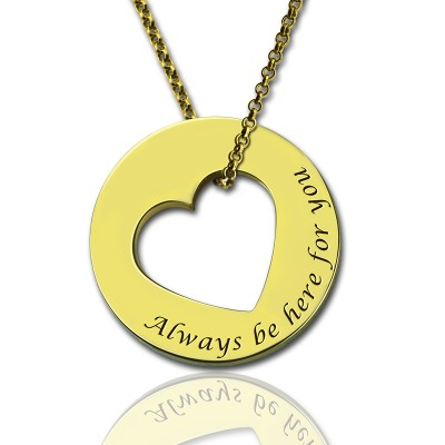 Always Be Here For You Promise Necklace - Crafted By Birthstone Design™