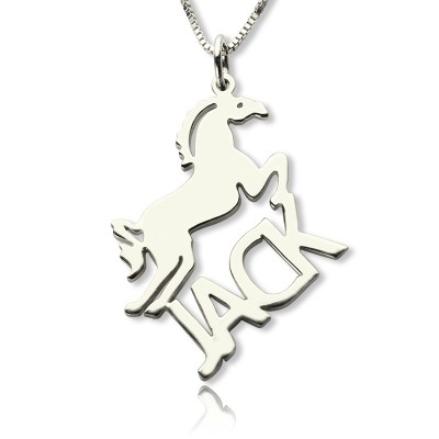 Personalised Horse Name Necklace for Kids Silver - Crafted By Birthstone Design™
