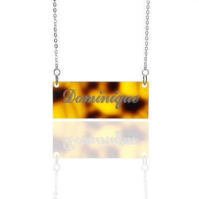 Personalised Acrylic Bar Carrie Name Necklace - Crafted By Birthstone Design™