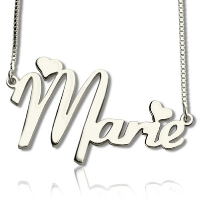 Personalised Cute Name Necklace Sterling Silver - Crafted By Birthstone Design™