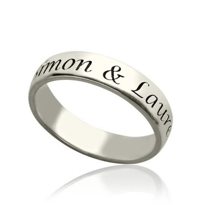 Personalised Promise Name Ring Sterling Silver - Crafted By Birthstone Design™
