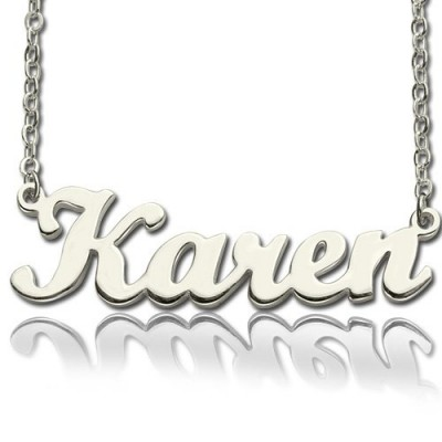 Personalised Script Name Necklace Sterling Silver - Crafted By Birthstone Design™