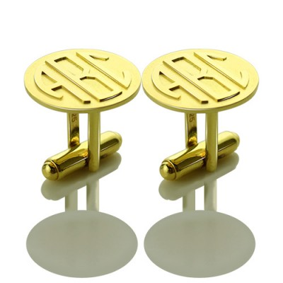 Cool Mens Cufflinks with Monogram Initial 18ct Gold Plated - Crafted By Birthstone Design™