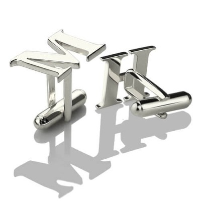 Best Designer Cufflinks with Initial Sterling Silver - Crafted By Birthstone Design™