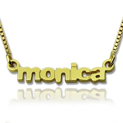 Personalised Small Lowercase Name Necklace in 18ct Gold Plated - Crafted By Birthstone Design™