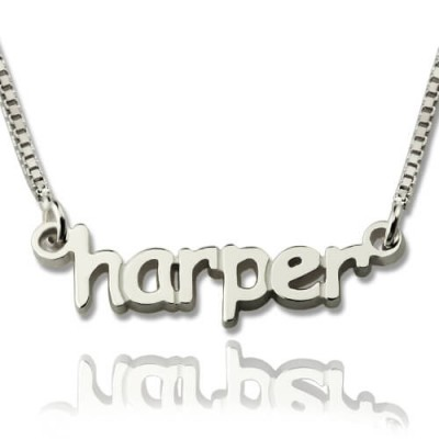 Personalised Mini Name Letter Necklace Sterling Silver - Crafted By Birthstone Design™