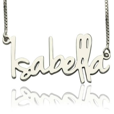 Small Name Necklace For Her Sterling Silver - Crafted By Birthstone Design™