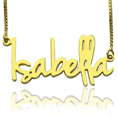 Small Name Necklace For Women in 18ct Gold Plated - Crafted By Birthstone Design™