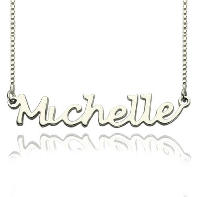 Handwriting Name Necklace Sterling Silver - Crafted By Birthstone Design™