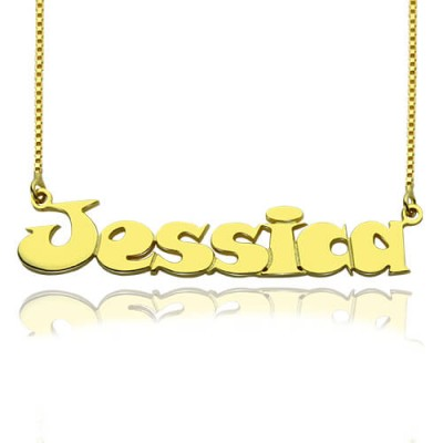 Gold Over Children's Name Necklace - Crafted By Birthstone Design™