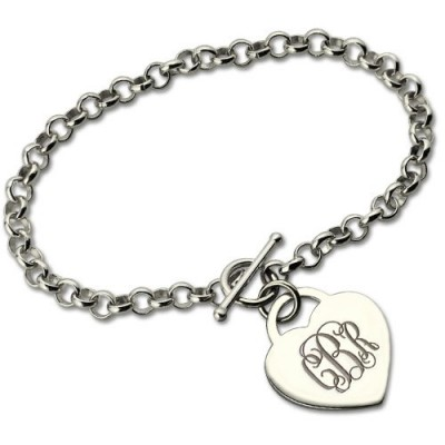 Personalised Monogram Charm Bracelet For Her Silver - Crafted By Birthstone Design™
