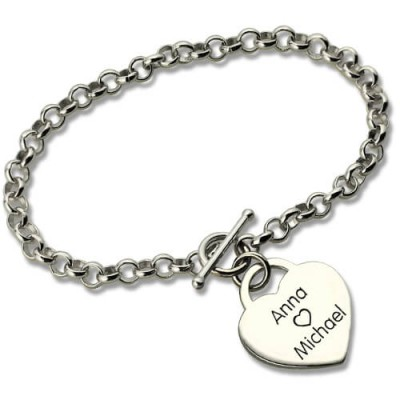 Classic Padlock Heart Toggle Bracelet with Free Filigree Keepsake Box - Crafted By Birthstone Design™