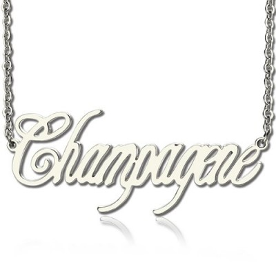 Unique Name Necklace Sterling Silver - Crafted By Birthstone Design™