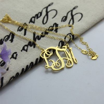 Cut Out Taylor Swift Monogram Necklace 18ct Gold Plated - Crafted By Birthstone Design™