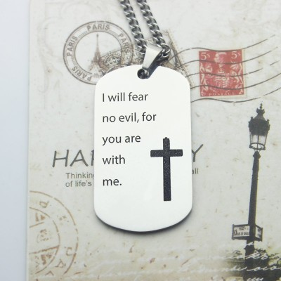 Military Dog Tag Name Necklace - Crafted By Birthstone Design™