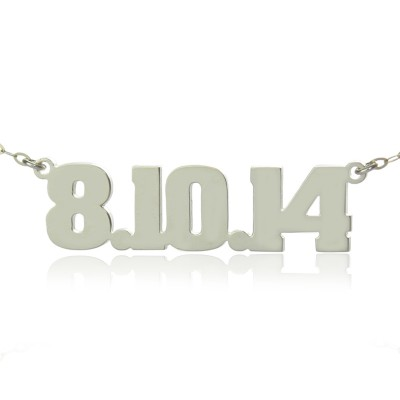 Sterling Silver Number Name Necklace Unique Men Jewellery - Crafted By Birthstone Design™