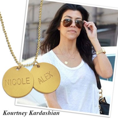 18ct Gold Plated Silver Disc Pendant Necklace - Crafted By Birthstone Design™