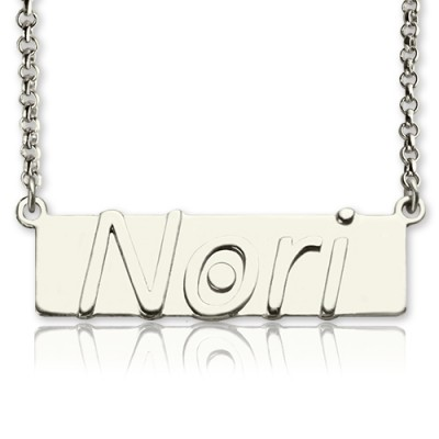Personalised Nameplate Bar Necklace Sterling Silver - Crafted By Birthstone Design™