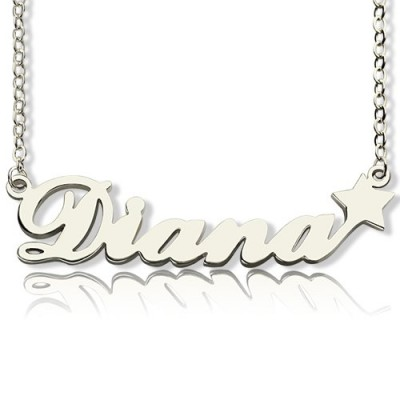Personalised Letter Necklace Name Necklace Sterling Silver - Crafted By Birthstone Design™