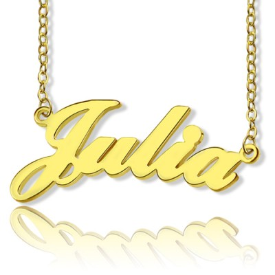 Solid Gold 18ct Julia Style Name Necklace - Crafted By Birthstone Design™