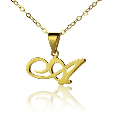 Personalised Letter Necklace 18ct Gold Plated - Crafted By Birthstone Design™