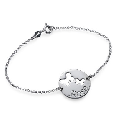 Cut Out Butterfly Bracelet/Anklet - Crafted By Birthstone Design™
