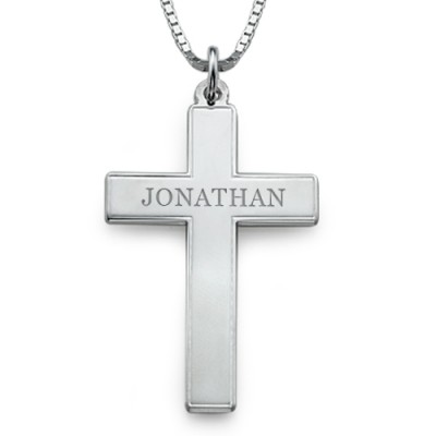 Men's Personalised Cross Necklace - Crafted By Birthstone Design™
