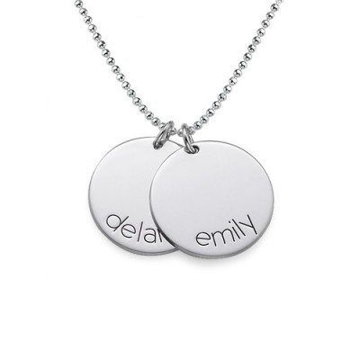 Engraved Kids Disc Necklace - Crafted By Birthstone Design™