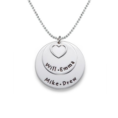Family Necklace in Sterling Silver - Crafted By Birthstone Design™