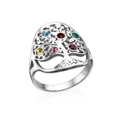 Family Tree Jewellery - Birthstone Ring  - Crafted By Birthstone Design™