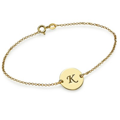 Gold Plated Initial Bracelet/Anklet - Crafted By Birthstone Design™