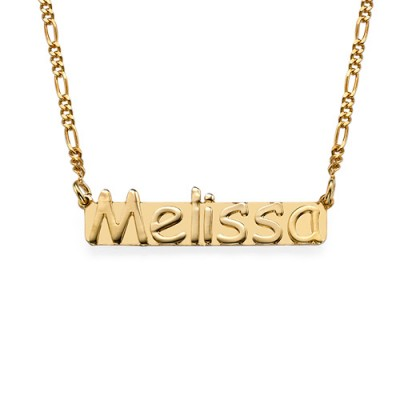 18k Gold Plated Sterling Silver Name Necklace - Crafted By Birthstone Design™