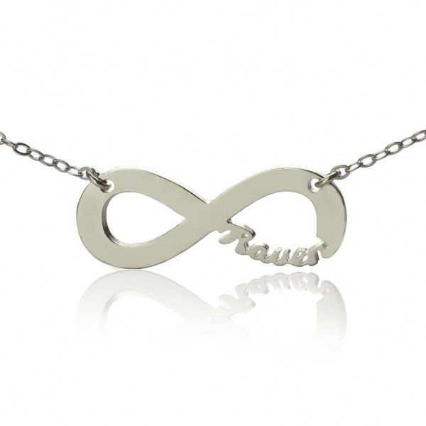 Sterling Silver Infinity Name Necklace - Crafted By Birthstone Design™