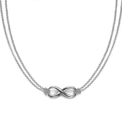 Silver Infinity Necklace - Crafted By Birthstone Design™