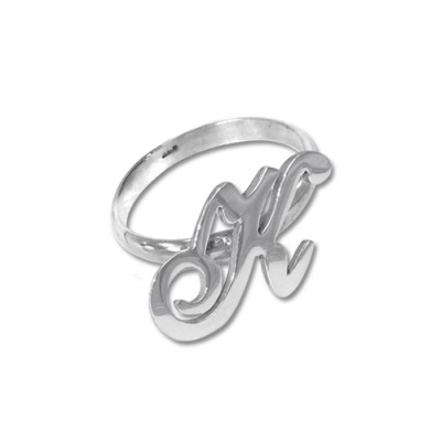 Initial Ring in Silver - Crafted By Birthstone Design™