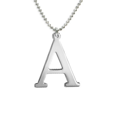 Initials Necklace in Silver - Crafted By Birthstone Design™