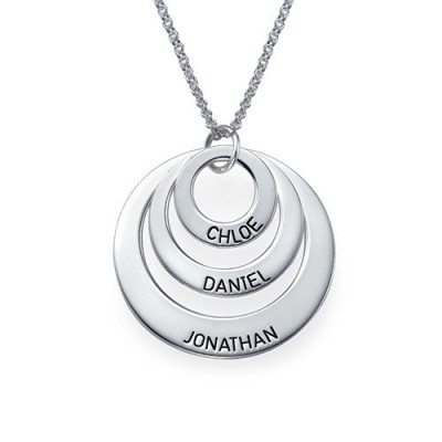 Jewellery for Mums - Three Disc Necklace - Crafted By Birthstone Design™
