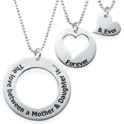 Mother Daughter Jewellery - Three Generations Necklace - Crafted By Birthstone Design™