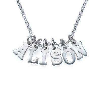 Multiple Initial Necklace in Silver - Crafted By Birthstone Design™