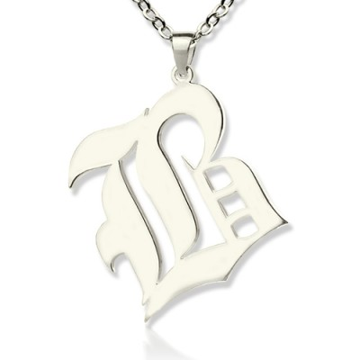 Personalised Initial Letter Charm Old English Sterling Silver - Crafted By Birthstone Design™